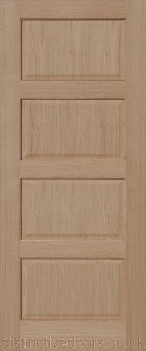 Wordsworth 4 Panel Oak Internal Door Also Available As A Fire