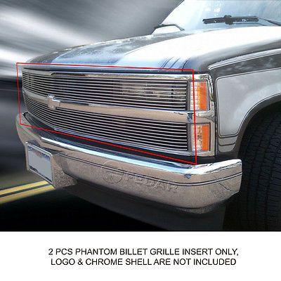 94 98 Chevy Silverado Stainless Steel 2mm Mesh Rivet Billet Grille