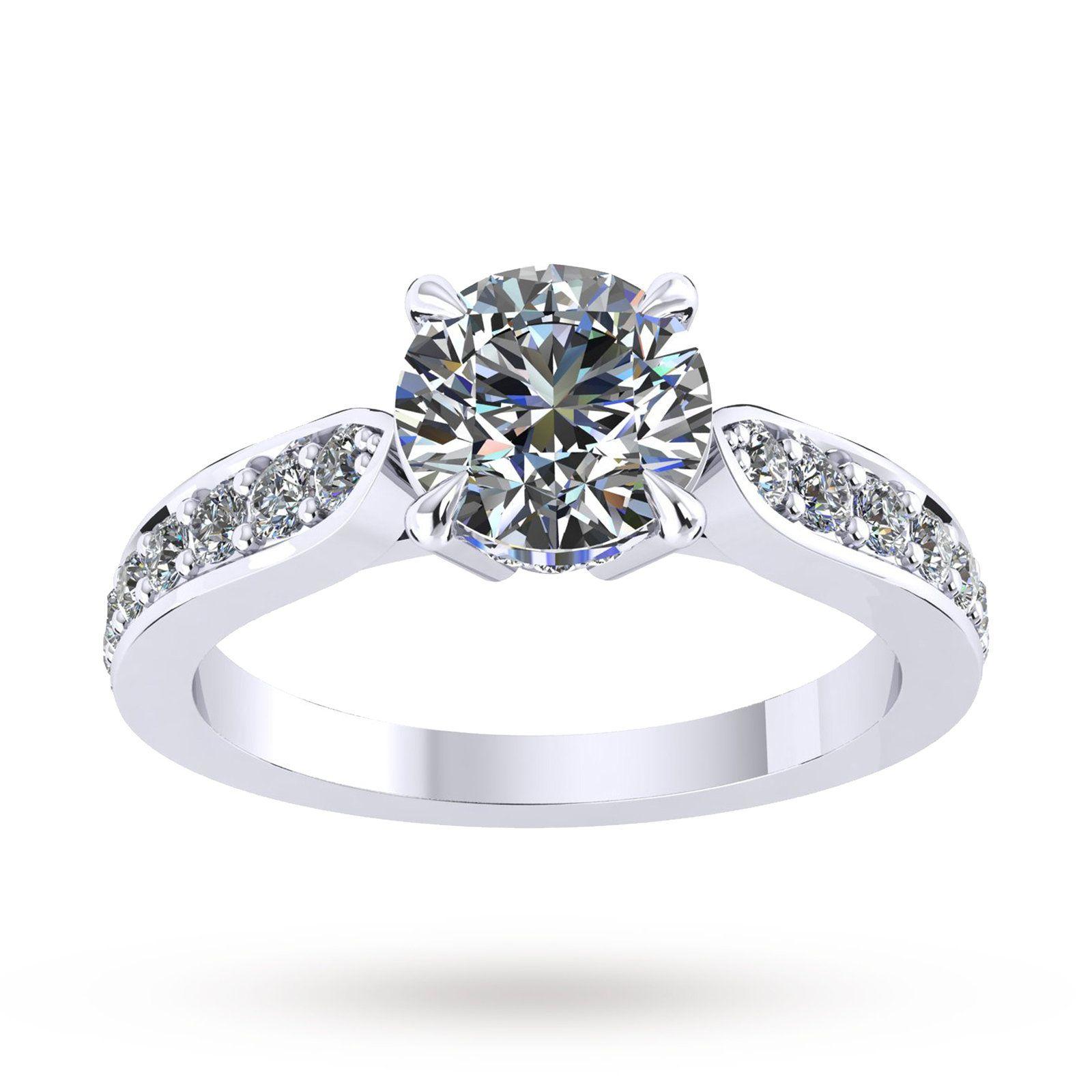 Mappin Webb Boscobel Engagement Ring With Diamond Band 0 71 Carat