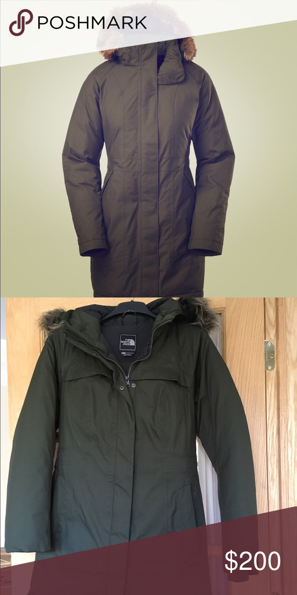 9d4d4f647 The North Face Arctic Down Parka Insulated forest green winter ...