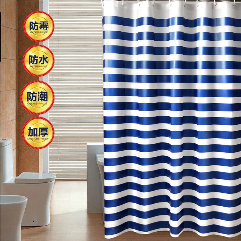 free shipping,Shower Curtain 100%Cotton Printing New Design Bathroom waterproof striped shower curtain For Living Room