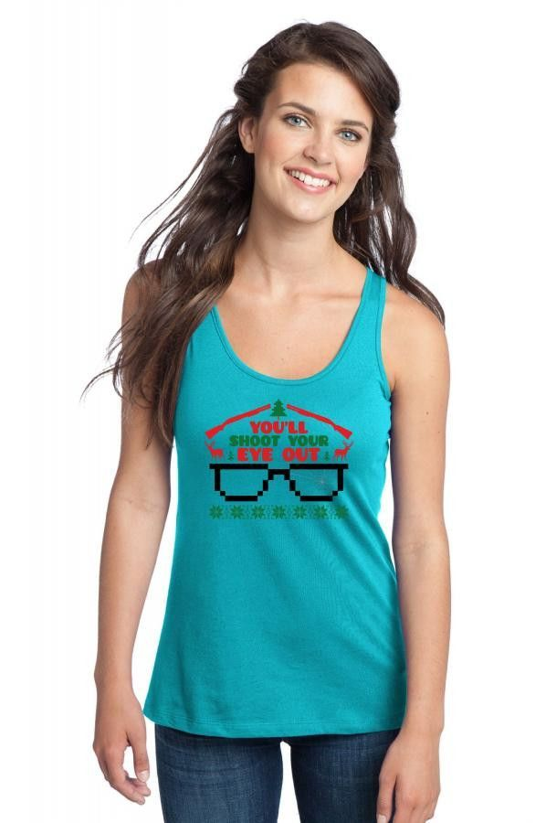 you will shoot your eye out Racerback Tank