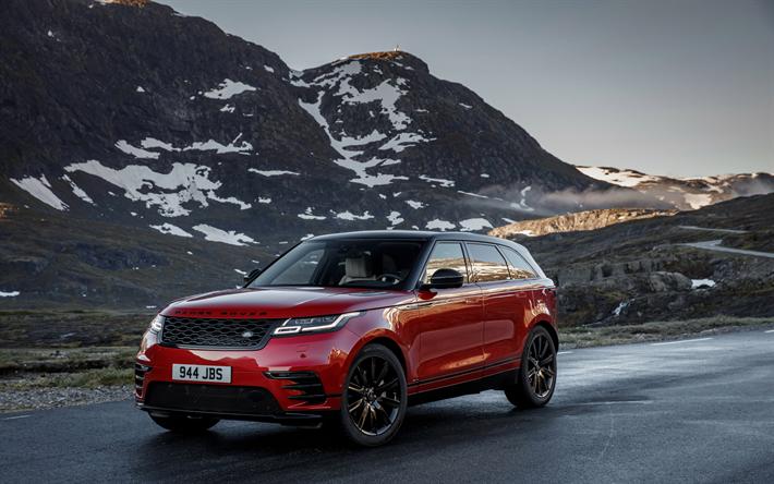 Lataa kuva Land Rover, Range Rover Velar, R Dynaaminen D300, punainen Velar, MAASTOAUTO, 2017, British autot