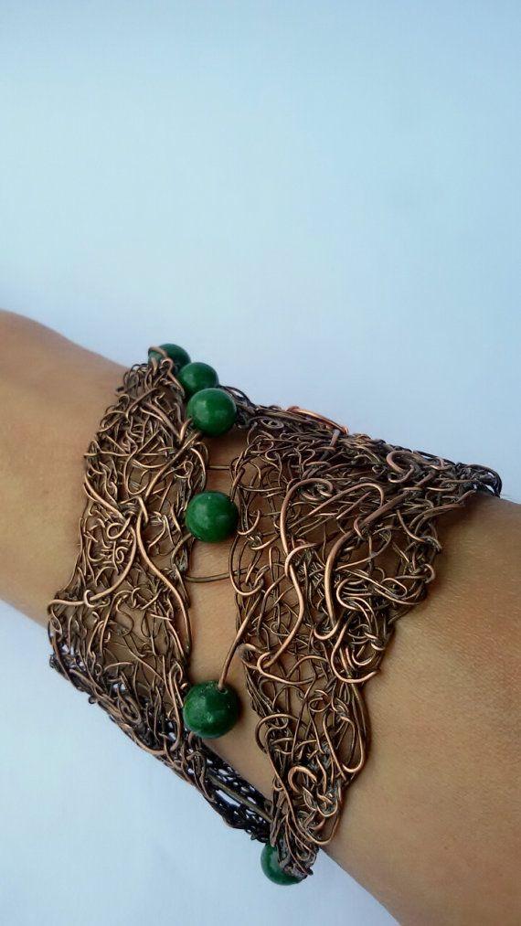 Copper wire braceletFairy wire wrapped bracelet by Tangledworld