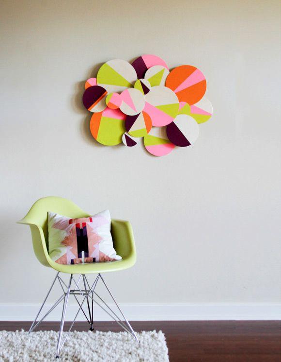 DIY Geometric Wall Art & 8 Simple DIY Wall Hangings | Geometric wall art Geometric wall and ...