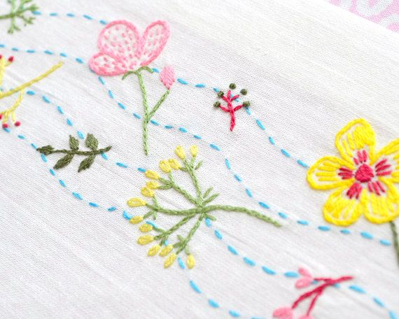 Floral Embroidery Pattern Hand Embroidery Pattern Pdf Insant