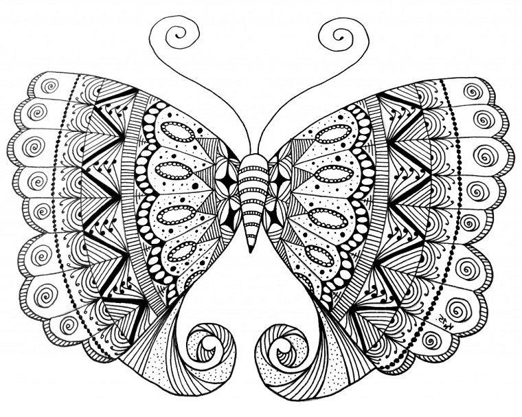 Disegni a matita grande farfalla con motivi mandala idea for Disegni facili da disegnare a matita