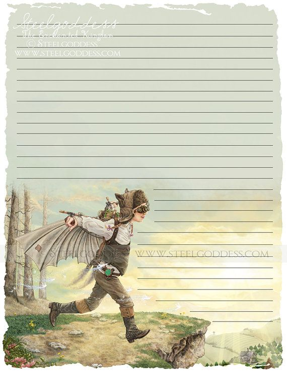 Fairy Writing Paper   Journal Pages   Lined Paper   Writing Paper    Parchment Paper