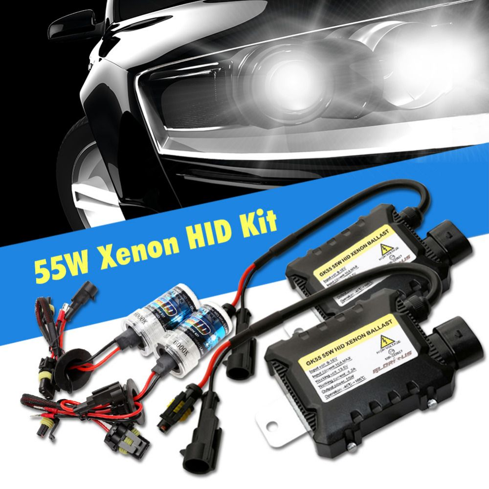 2Pcs H7 35W HID Xenon Bulbs Auto Auto Phare Conversion Light Lamp 6000K
