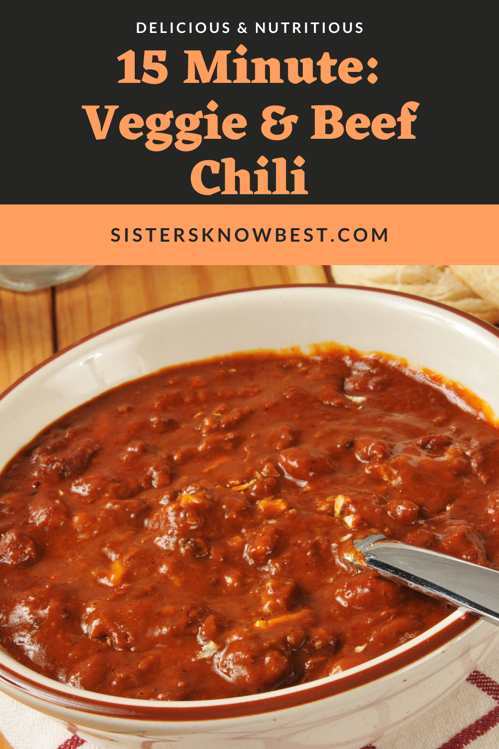 Vegetable And Beef Chili Sisters Know Best Recipe Fall Recipes Snacks Beef Chili Recipe Fall Crockpot Recipes