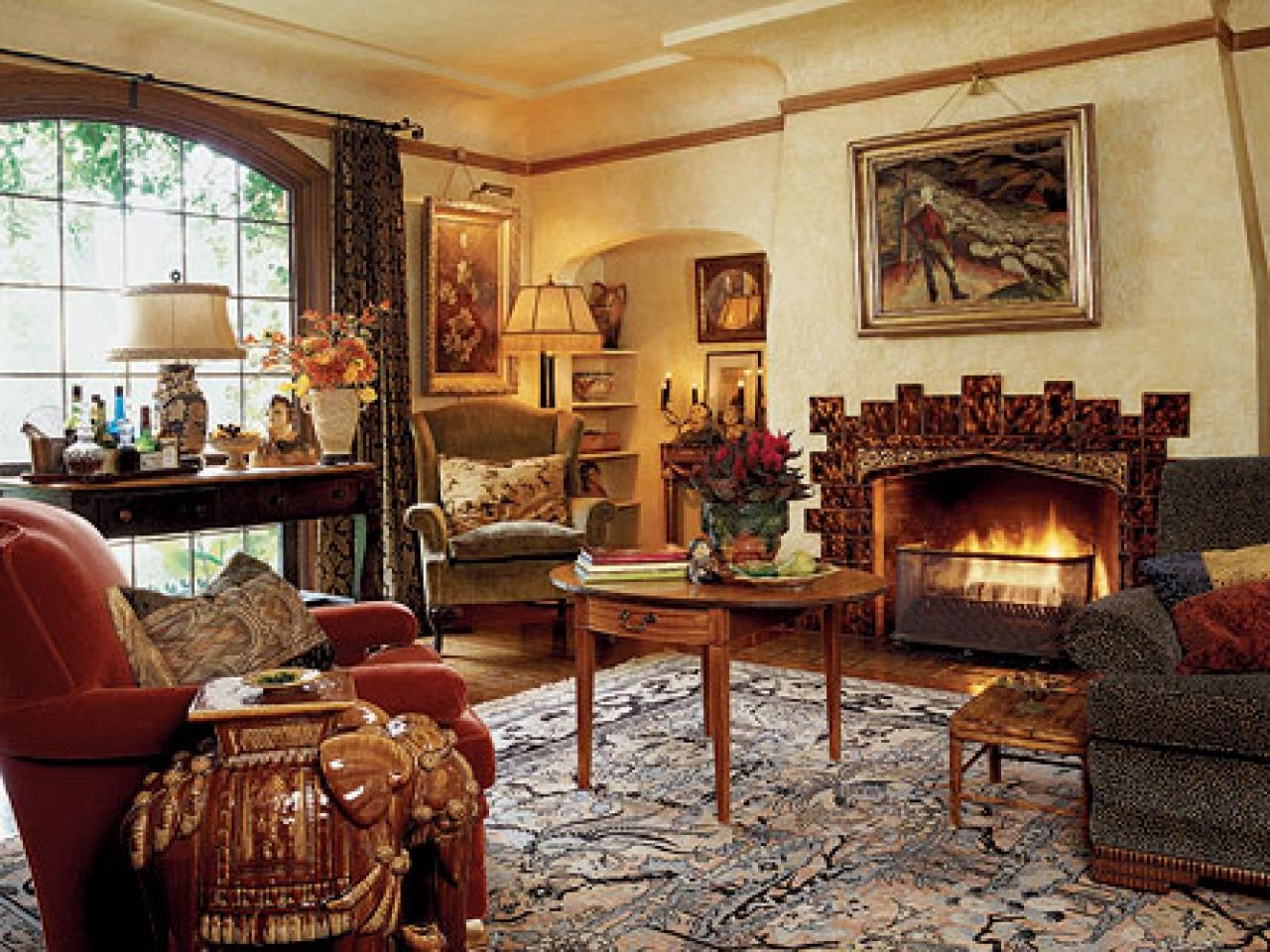 English Tudor Cottage Style Home Interiors Old