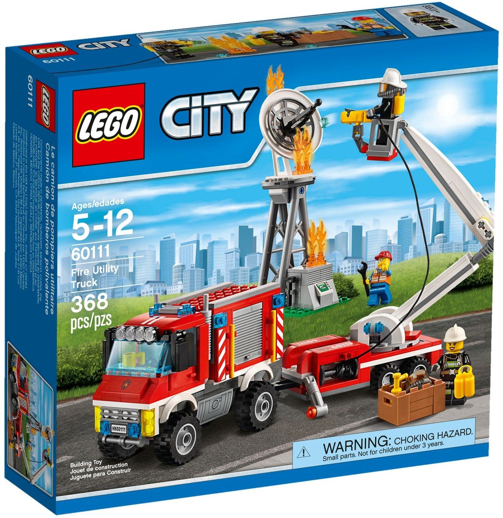 lego city 60111 pas cher le camion dintervention des pompiers - Lego City Pompier
