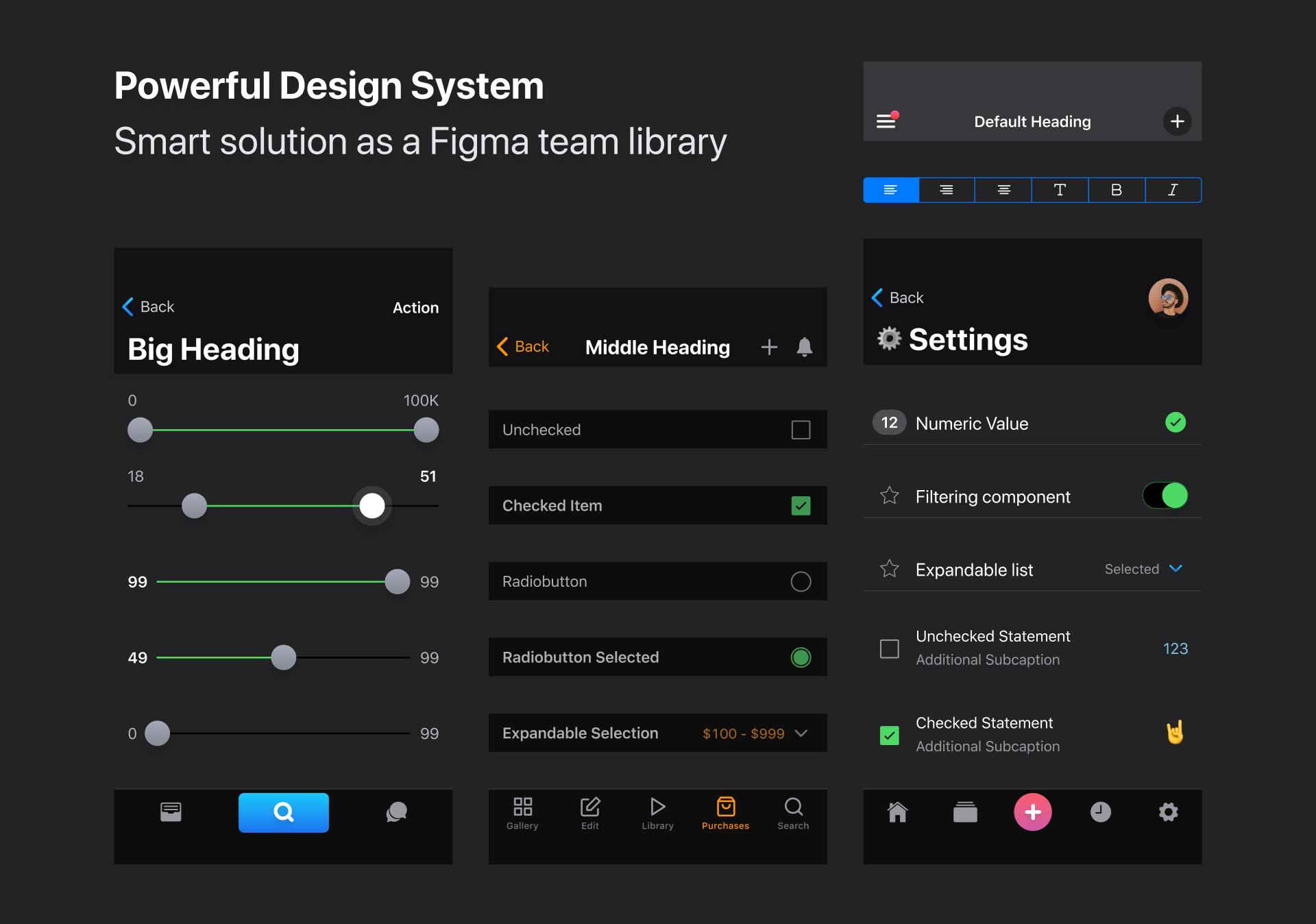 Figma iOS UI kit | Figma iOS toolkit | Ios design, Design system, Ios ui