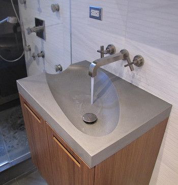 Bathroom Sinks New York concrete guest bathroom sink - modern - bathroom sinks - new york