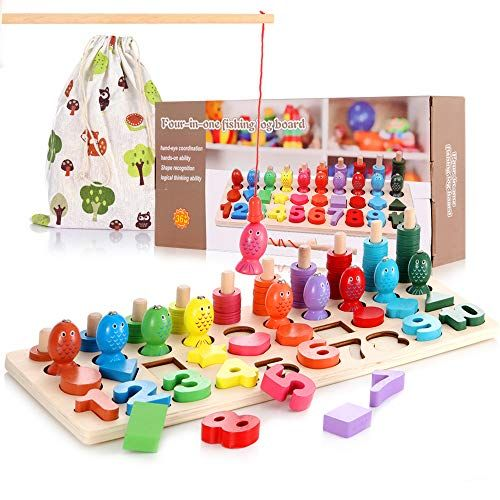 Wooden Montessori Math Puzzle Toys for Toddlers, Girls ...
