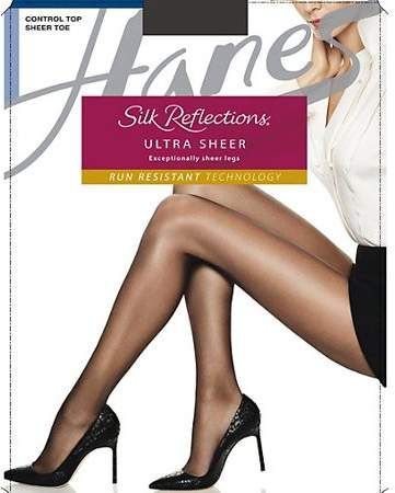 8460cc1406f Hanes Ultra Sheer Control Top Pantyhose with Run Resistant Technology 3-Pack