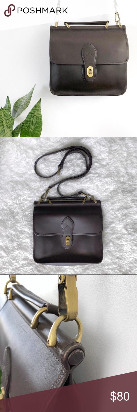 Croft And Barrow Leather Saddle Bag Crossbody My Posh