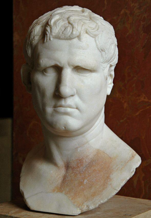 Agrippa. Marble. Circa 25—24 BCE. Height 46 cm. Inv. No. MR 402 (Ma 1208). Paris, Louvre Museum