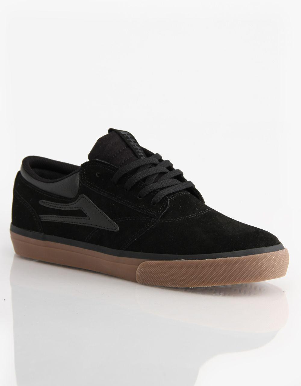 Lakai Griffin Skate Shoes - Black/Gum Suede