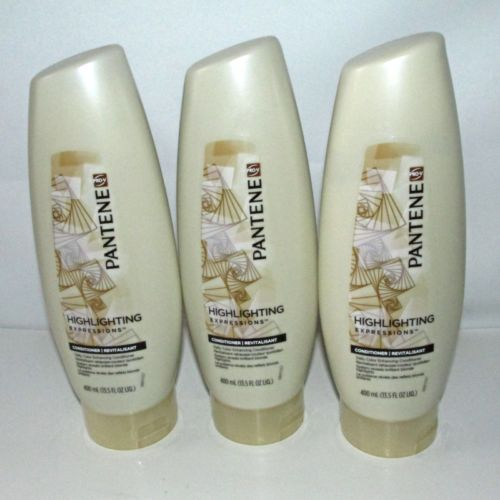 3 Pantene Pro V Highlighting Expressions Conditioner Color Enhancing 13 5 Oz New Pantene Conditioner Health And Beauty