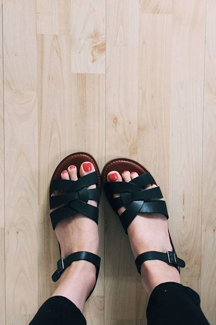 d0a6d823286 TOMS black strappy Zoe Sandals are great for day to night outings ...