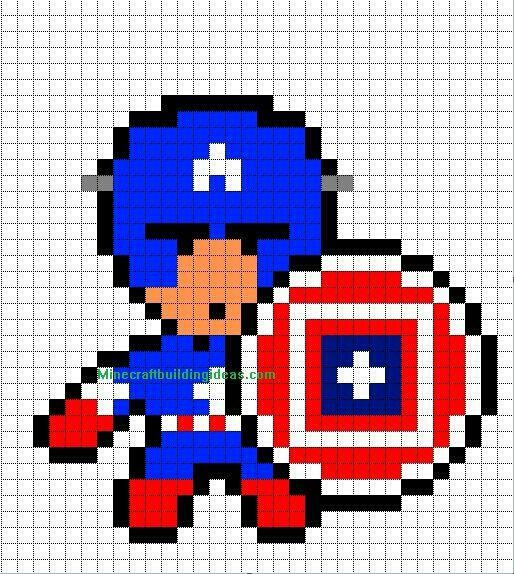 Captain America Graph Paper Pixel Art Pinterest Graph paper - graph paper template