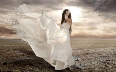 Beautiful white flowing dresses