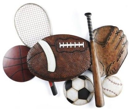 Sports Collage Plaque Traditional Artwork Sports Themed Room