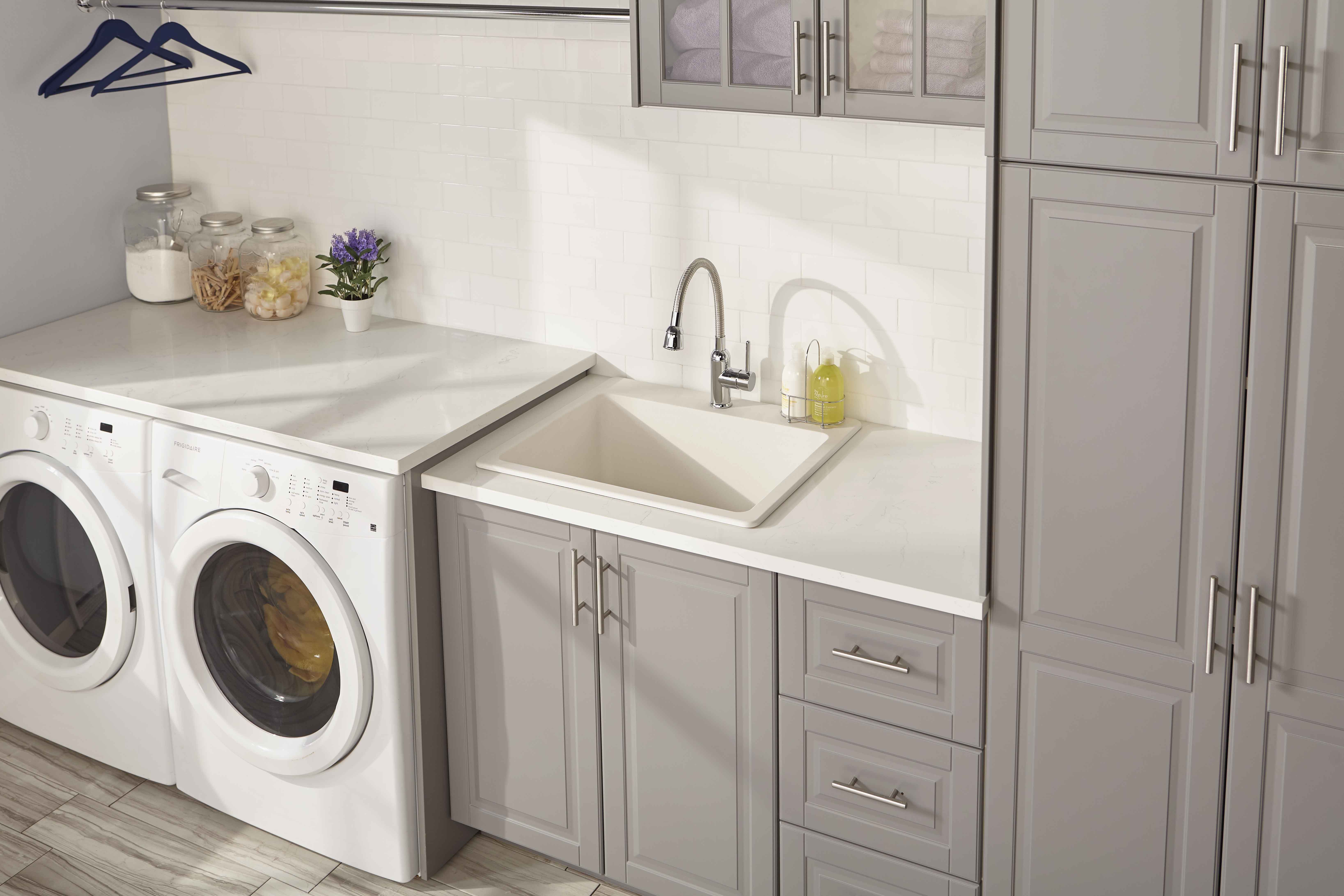 Quartz Classic 25 X 22 X 11 13 16 Drop In Laundry Sink With