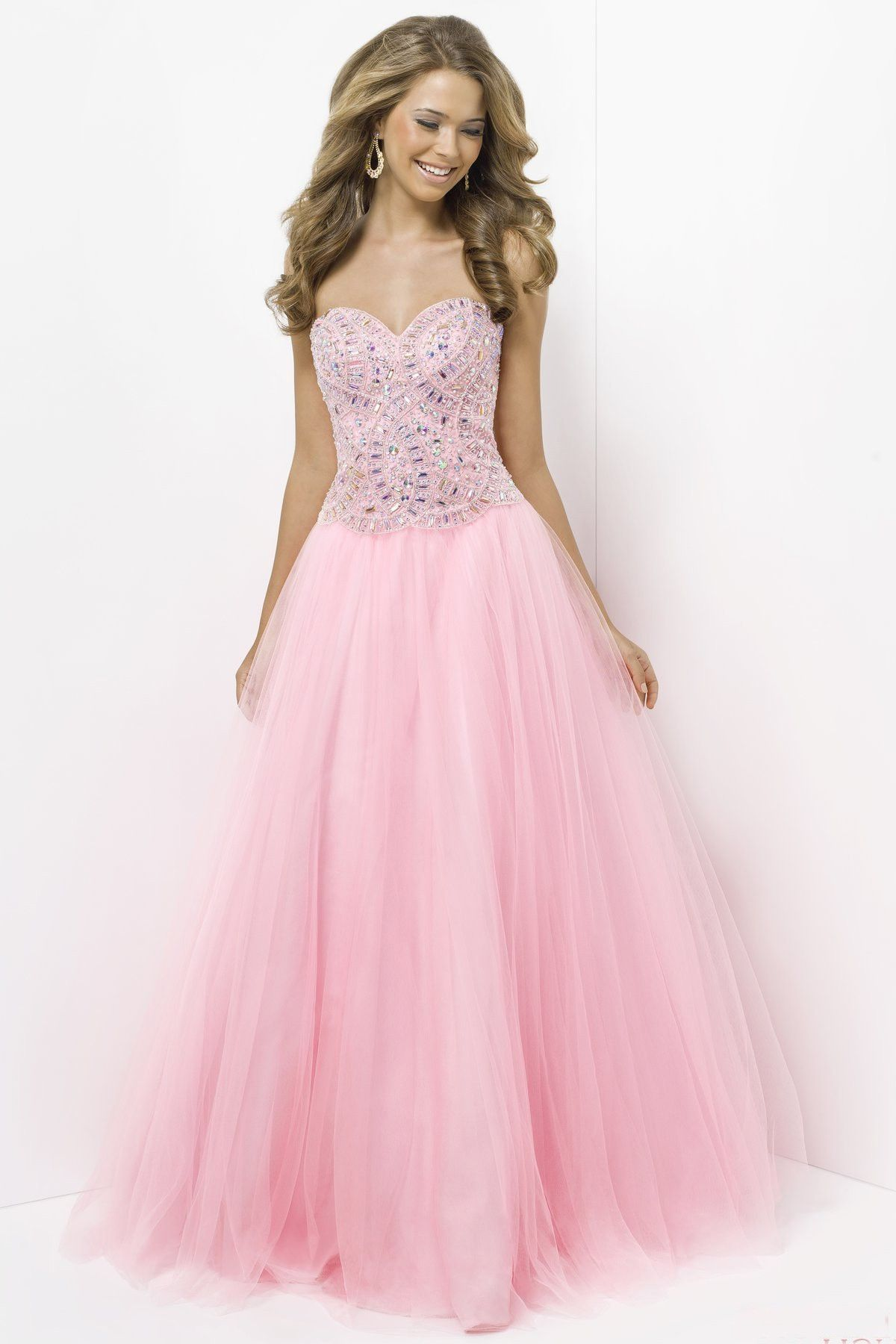 Beaded Tulle Ball Gown Sweetheart Floor-length Prom Dress(PD0546 ...
