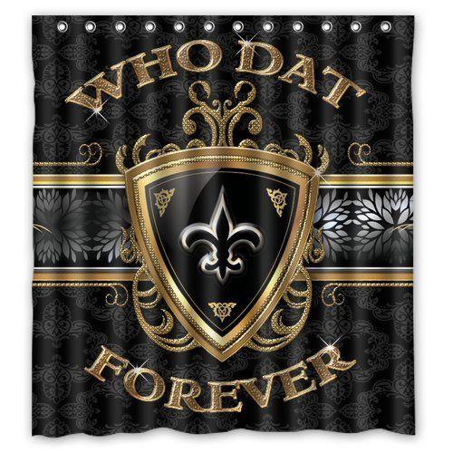Custom New Orleans Saints Shower Curtain 66x72 Inch High Quality