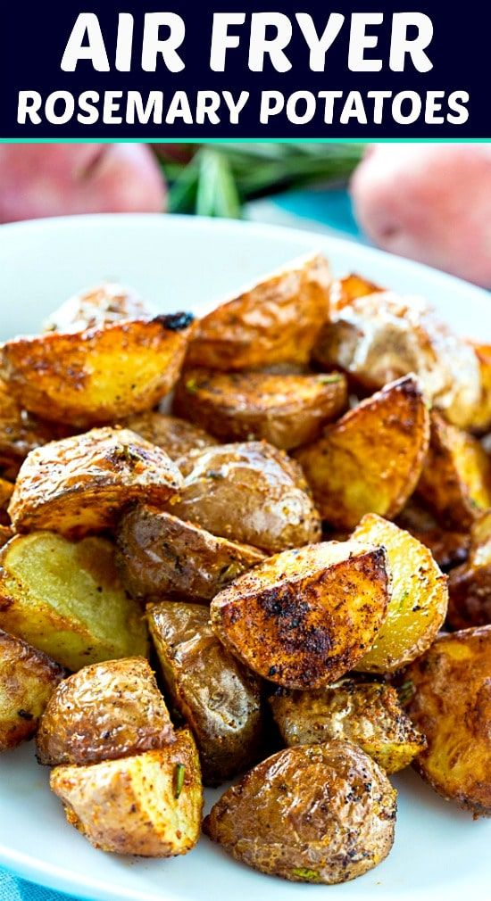 Photo of Roasmeary Potatoes roasted in the sir fryer