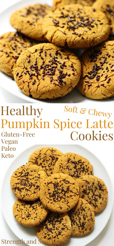 Soft Grainless Pumpkin Spice Latte Cookies Recipe Gluten Free Pumpkin Cookies Healthy Pumpkin Spice Latte Dessert Recipes