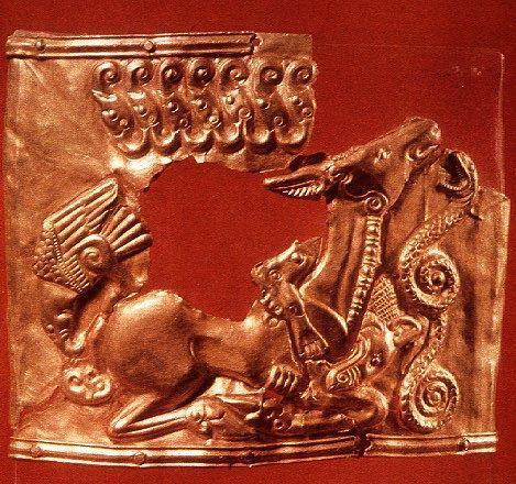 scythian gold plaque