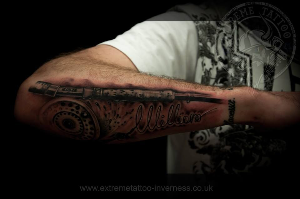 Fishing Rod,done At Extreme Tattoo&Piercing Inverness