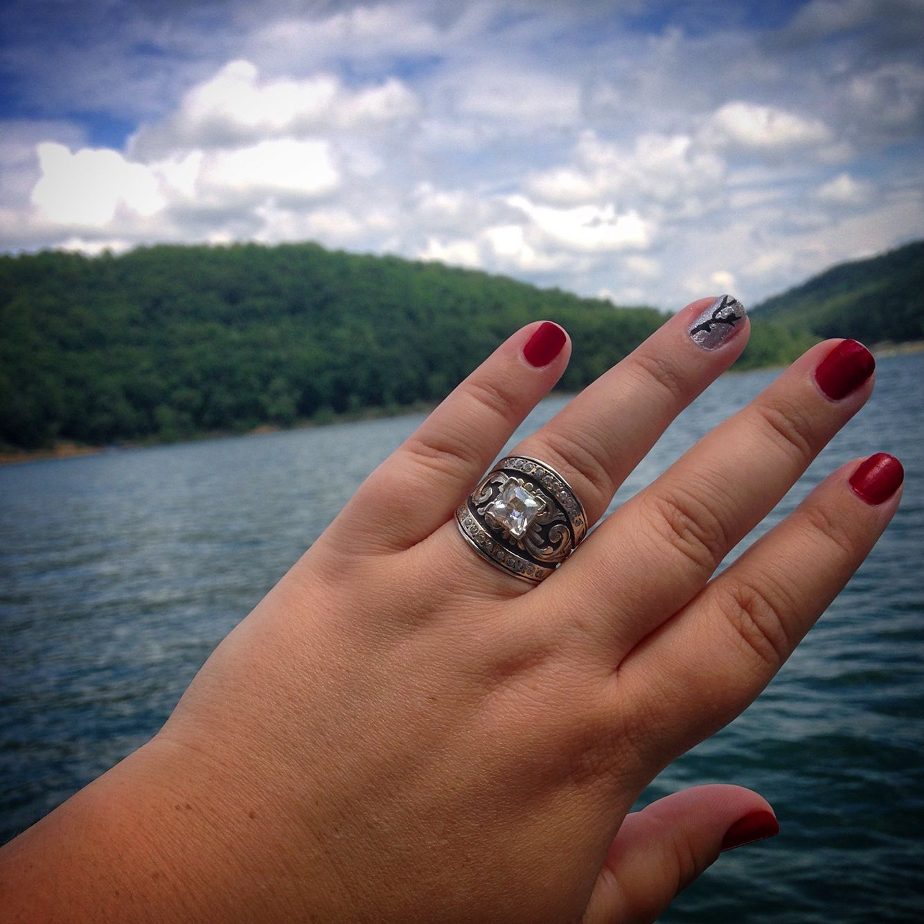 Hyo Silver engagement ring! Western, country, silver, big
