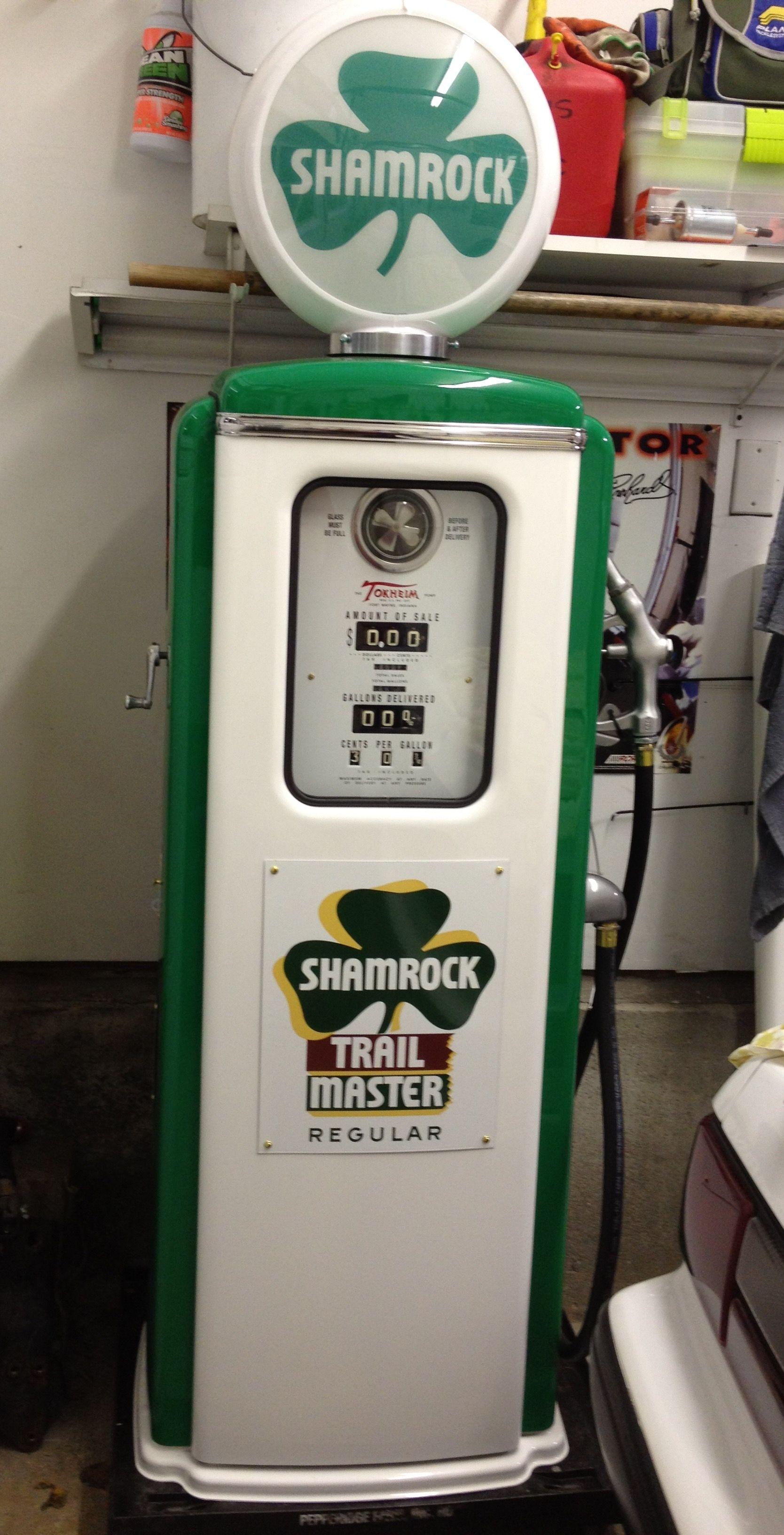 1940 50 S Tokheim Shamrock Gas Pump Vintage Gas Pumps Old Gas Pumps Gas Pumps