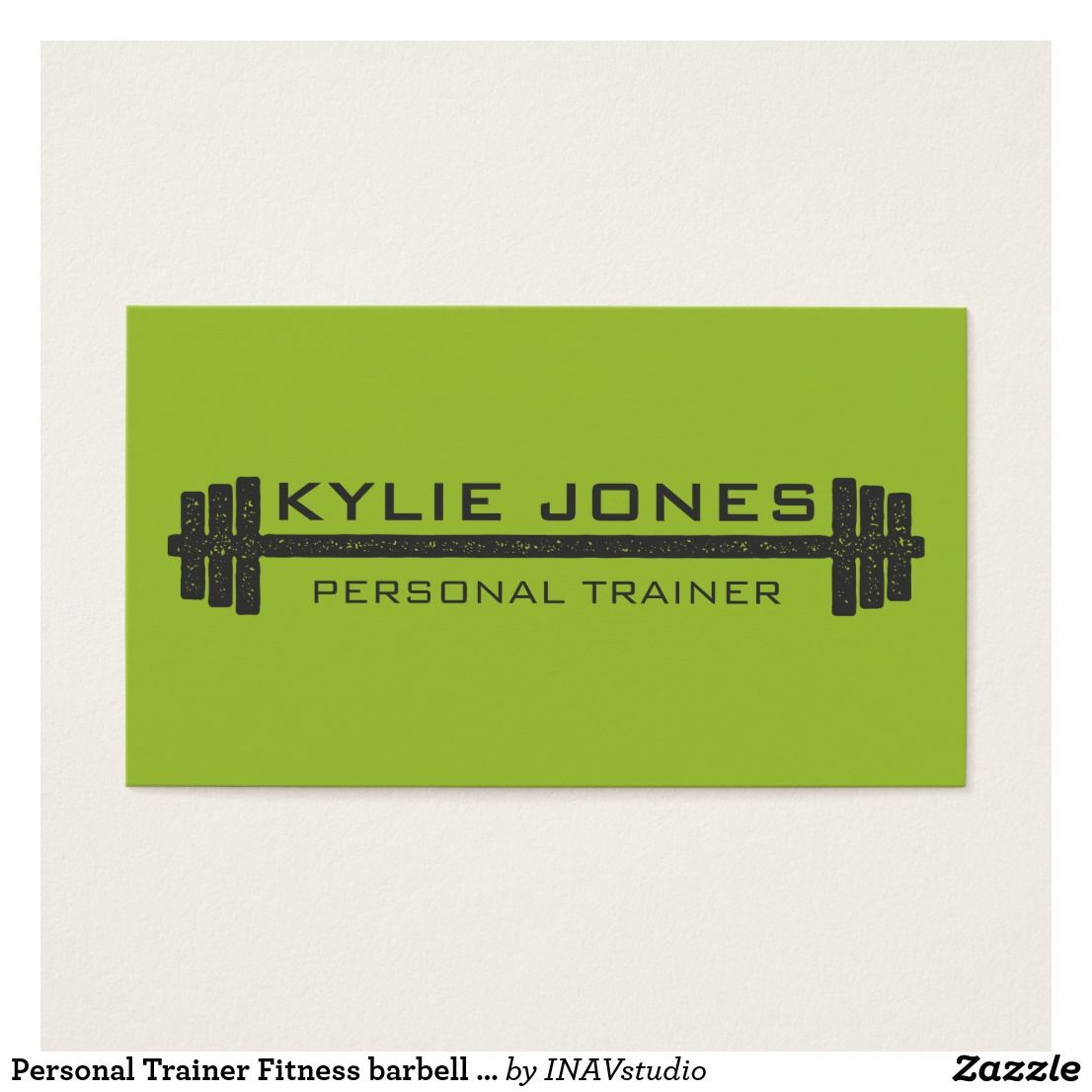 Personal Trainer Fitness Barbell Weight Business Card Zazzle Com