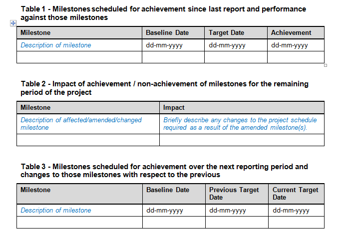 Project Status Report Templates Download For Project Management ...