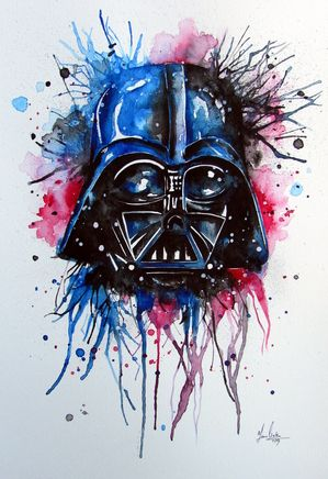 Darth Vader Splatter watercolor painting by www.fiona ...