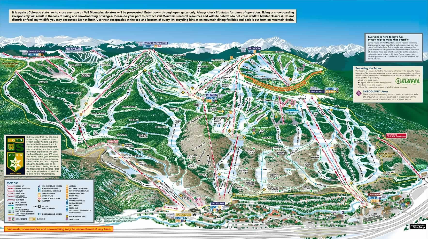 vail ski resort map   all our adventures   skiing, trail maps, vail