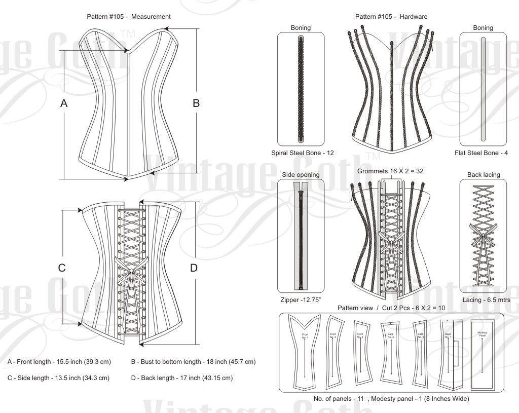 Renata Steampunk Corset | DISEÑOS PLANOS | Pinterest | Diseño plano ...