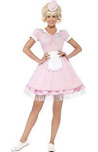 Women's 50's Diner Girl Costume
