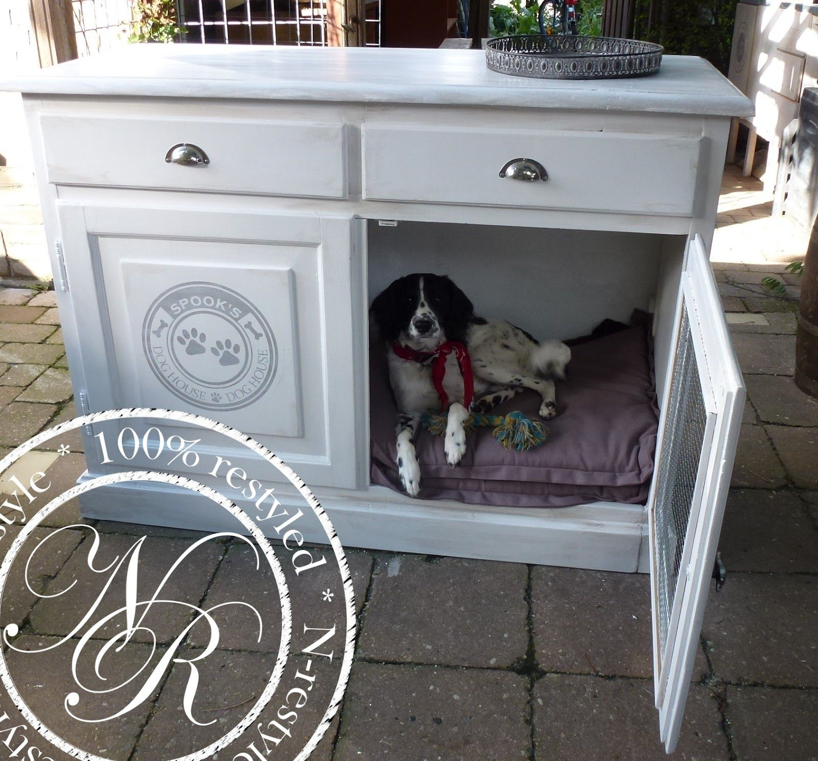 Bench Hond Woonkamer Restyle Your Home Honden Bench Dog Bench Benches Dog Crate