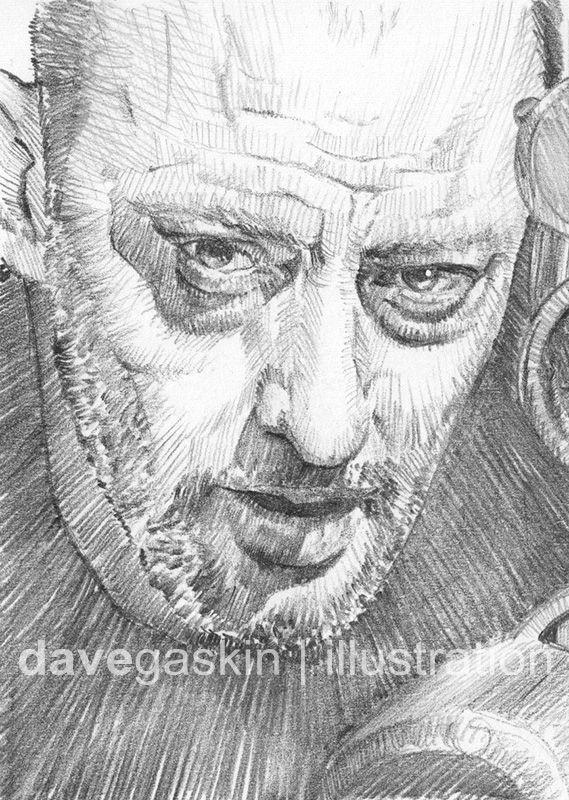 Sketch card of Jean Reno as Léon