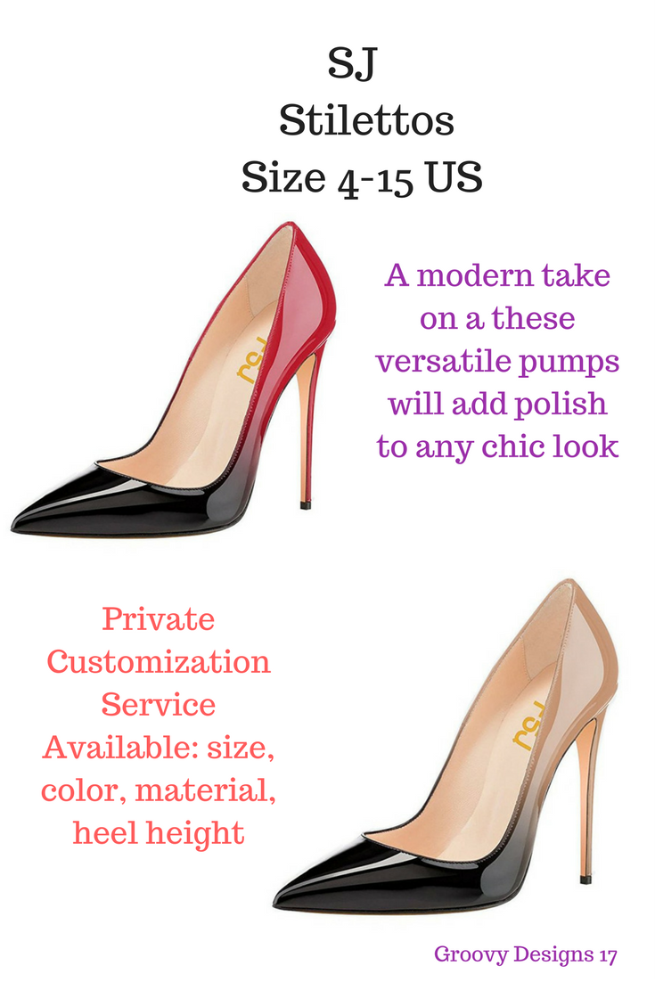 1e3da2ba750 FSJ Women Fashion Pointed Toe Pumps High Heel Stilettos Sexy Slip On ...