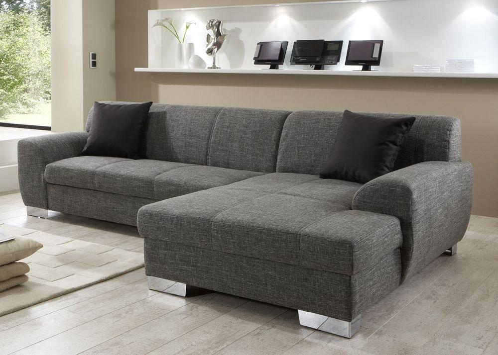 tolle graues ecksofa mit schlaffunktion wohnzimmer pinterest. Black Bedroom Furniture Sets. Home Design Ideas