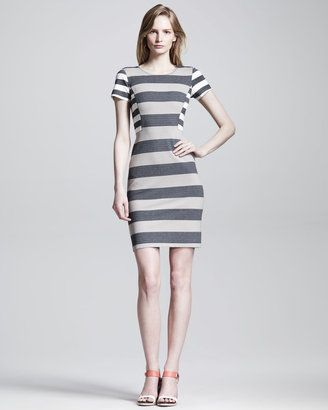 867d01326963 10 Crosby Derek Lam Striped Side Panel Sheath Dress Derek Lam