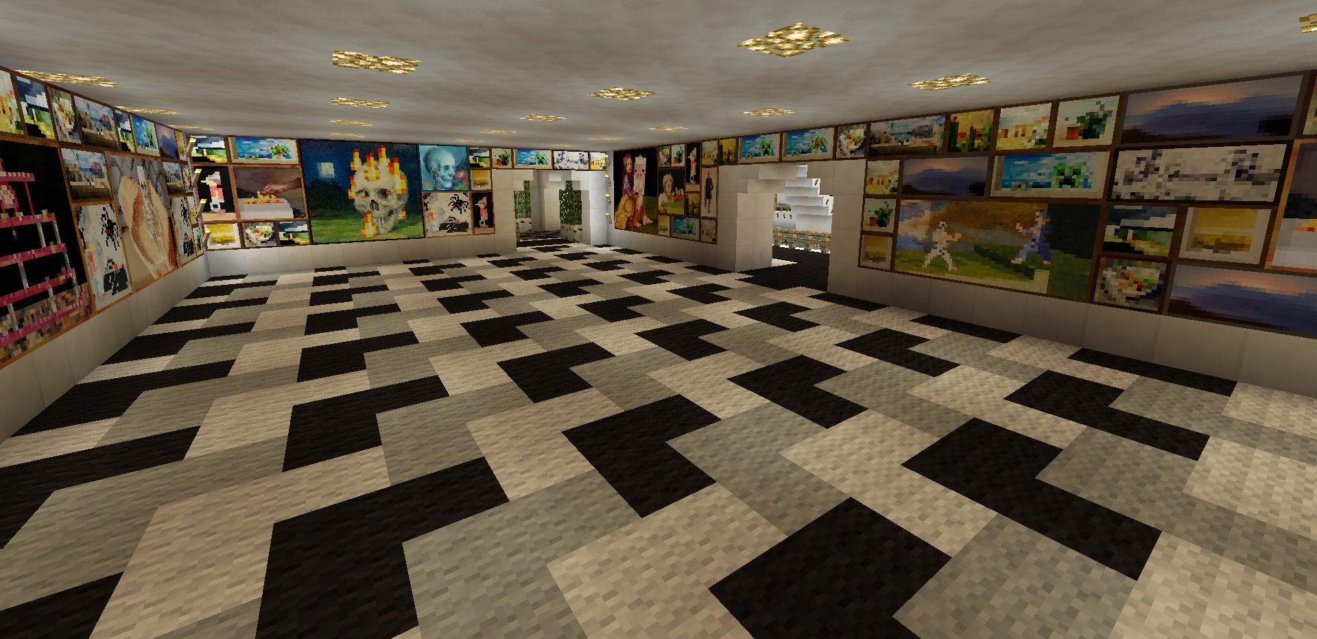 minecraft art room and decor carpet design creations | minecraft