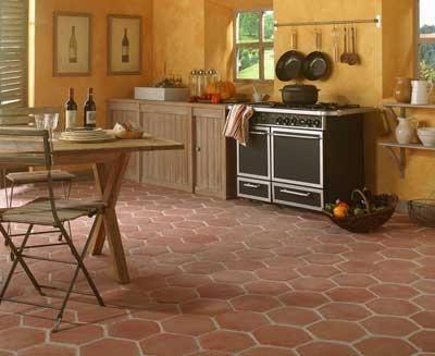 DALLES DE SOLS INTéRIEURS STYLE DEPOQUE Cuisine Pinterest - Terre cuite carrelage pour idees de deco de cuisine
